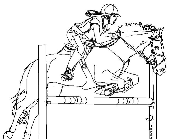 Horse Show Jumping Coloring Pages In 2019 Horse Coloring