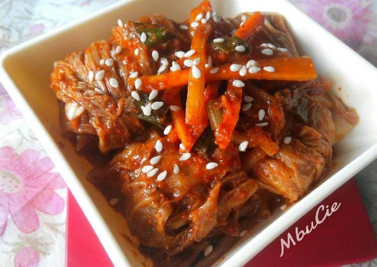 Resep Kimchi Sawi Putih Oleh Vici Lucianti Mbucie Resep Makanan Makanan Dan Minuman Resep Masakan