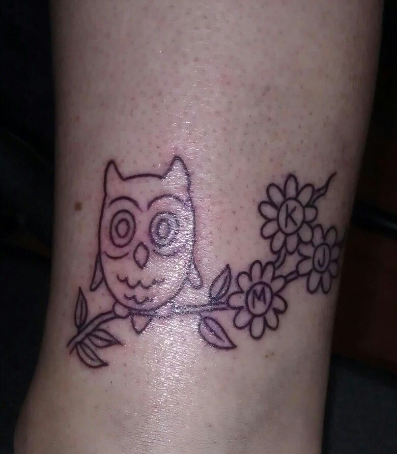 My Owl Tattoo In Memory Of My Best Friend 3 Owl Tattoo Pinterest