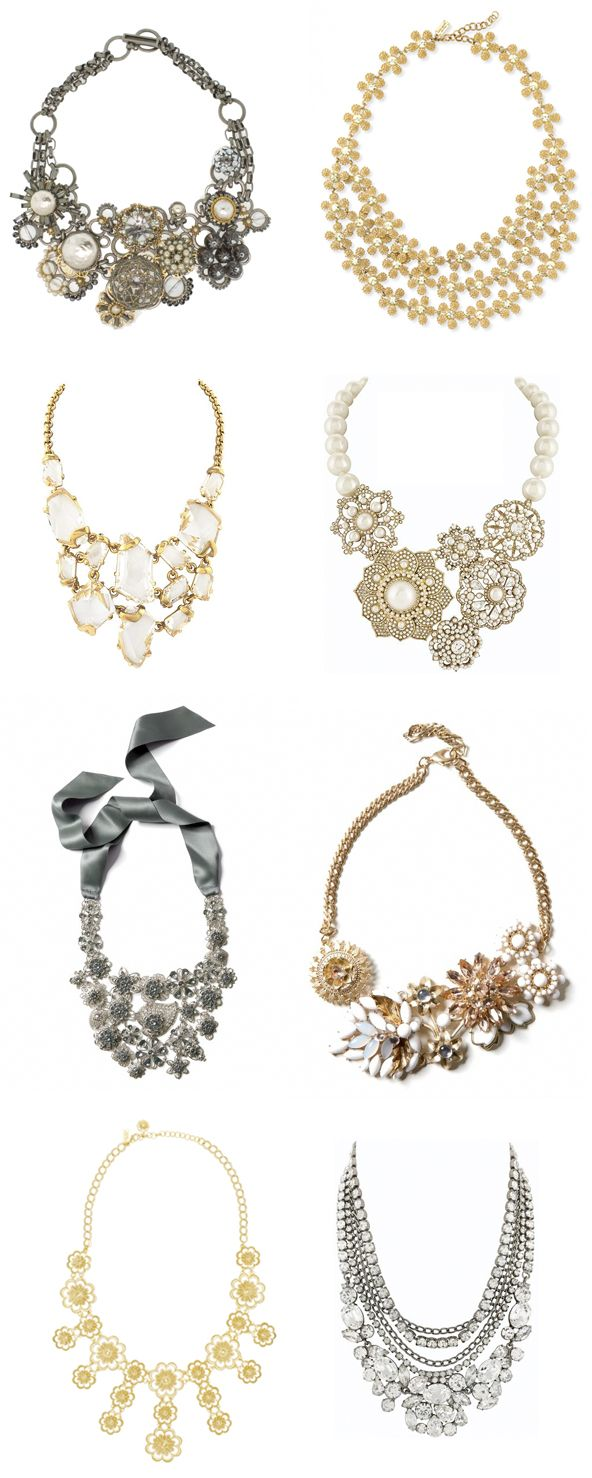 Statement Necklaces. Ill take all!