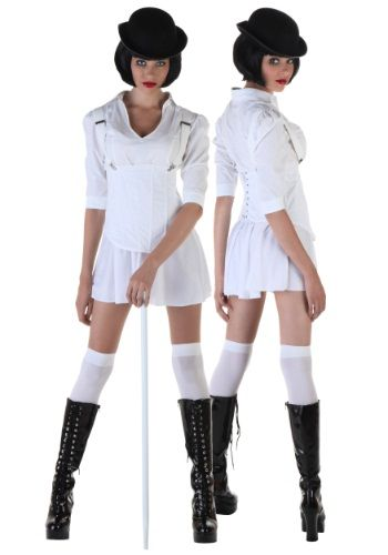 Hang out at the milk bar in this Sexy Droog Costume! That dystopian future sure is weird, so relax with your favorite Beethoven symphony.
