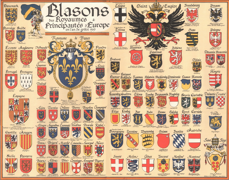 картинки европейские гербы произошла