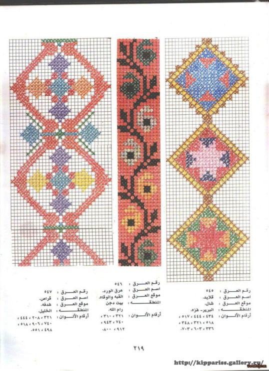 Gallery Ru Foto 15 Palestian Embrodery 02 Kippariss Embroidery Book Cross Stitch Floss Palestinian Embroidery Book