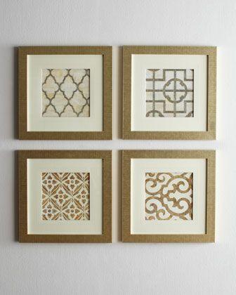 Four Geometric Prints | BEDROOM DECOR IDEAS | Pinterest | Wall decor ...