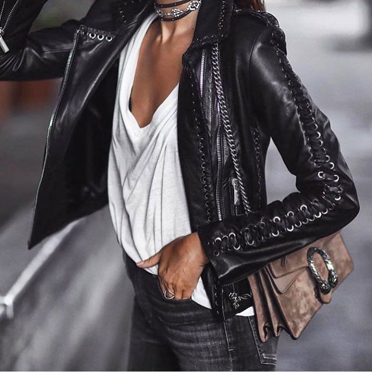See This Instagram Photo By Absolutely4woman 1 075 Likes Fashion Street Style Leather Jacket
