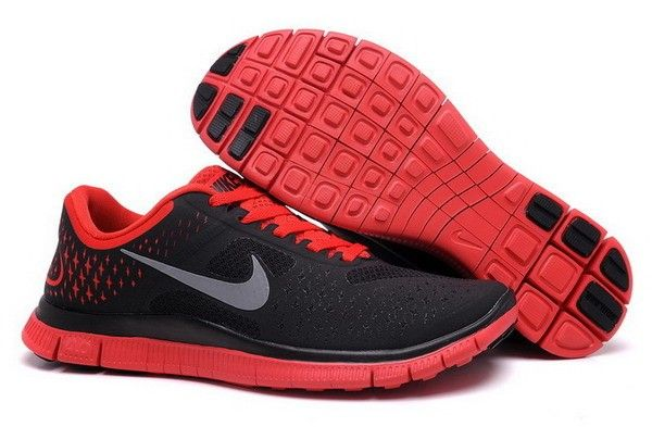 2db2fb99138c Nike Free 4.0 V2 Men s Shoes Anthracite   Reflect Silver   Red - Nike -  Designer