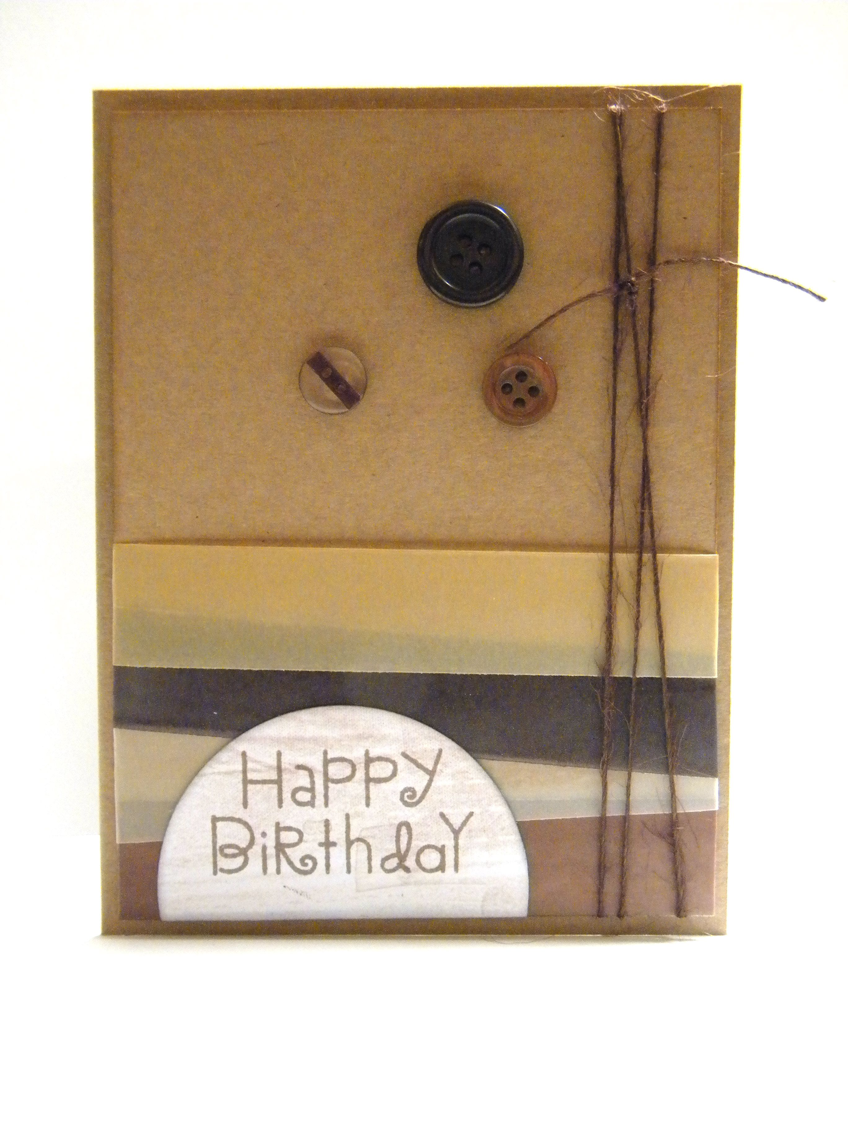 Masculine happy birthday card my projects pinterest happy