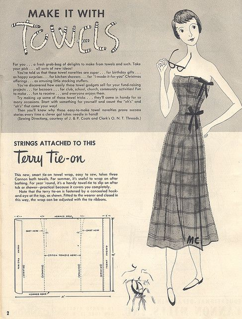 Terry Tie On | Dress sewing patterns, Sewing patterns and Vintage ...