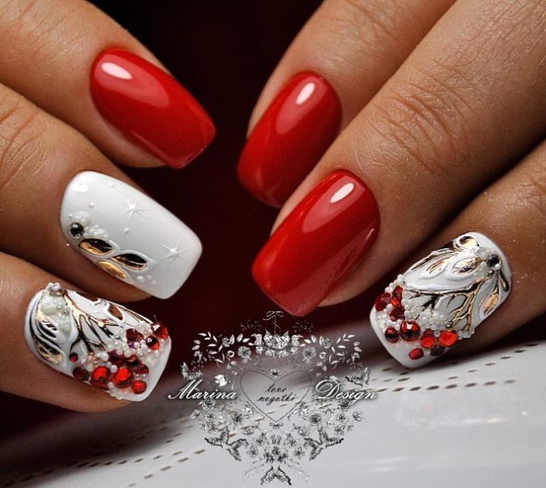Рябина в снегу рисунки на ногтях фото том
