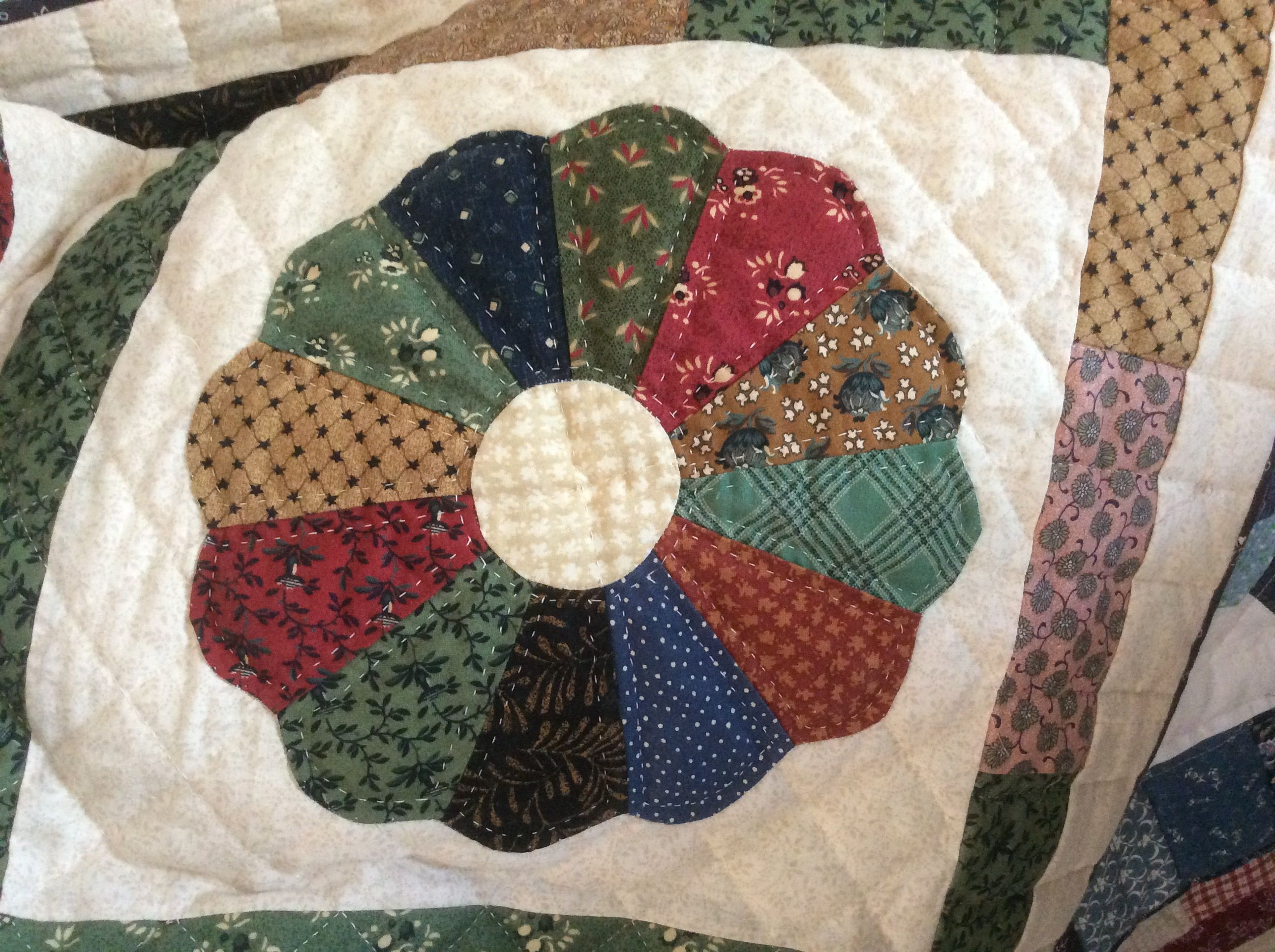 Close up of quilting done by Sharon Theriault