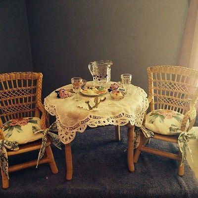 Rare American Girl Pleasant Company Samantha's Wicker Table