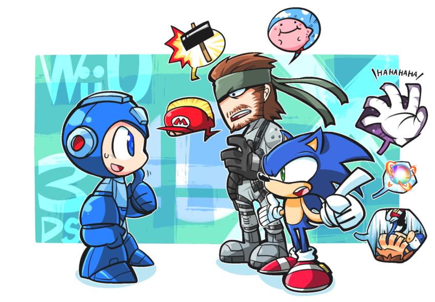 Solid Snake And Sonic Give Mega Man Some Advice For Super Smash Bros Super Smash Bros Memes Super Smash Bros Brawl Smash Bros Funny