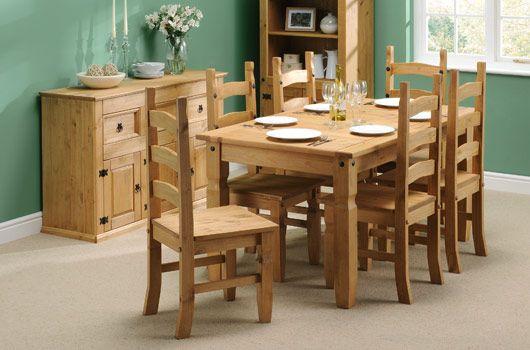 comedor con muebles de pino | Viviendas en 2019 | Muebles de pino ...