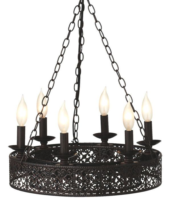 Look at this Antique Brown Ornate Double Layer Chandelier on #zulily today!