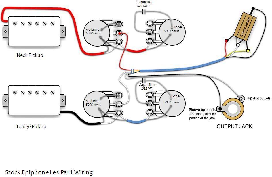 Les Paul Wiring Diagram Les Paul Guitars Les Paul Epiphone
