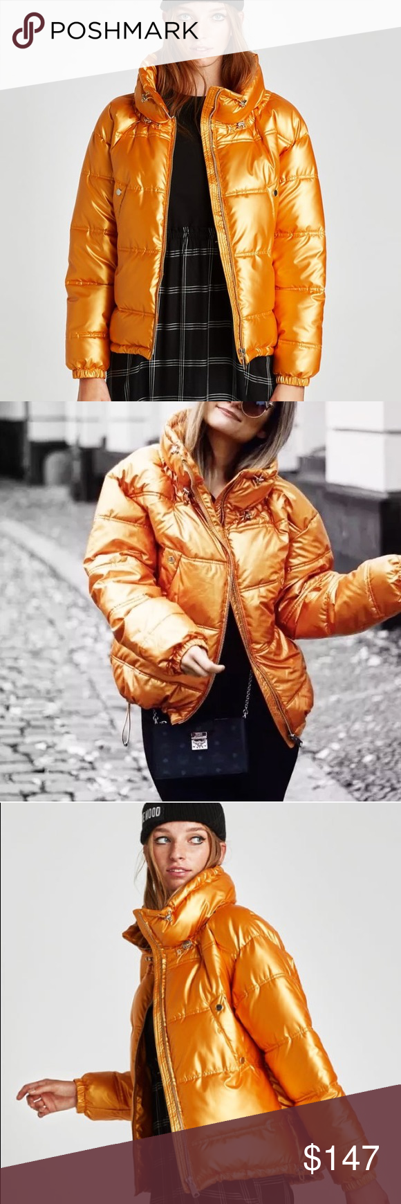 Zara Metallic Gold Puffer Jacket This Jacket Is For The Bold And Beautiful Quilted Jacket With High Collar Adjustable Elastic Tabs El Jackets Zara Zara Gold [ 1740 x 580 Pixel ]