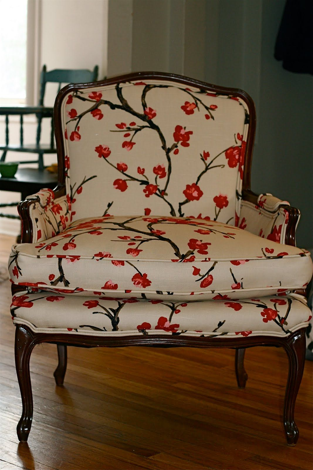 We Cover Chairs In Cherry Blossom Fabric At Least Some Do