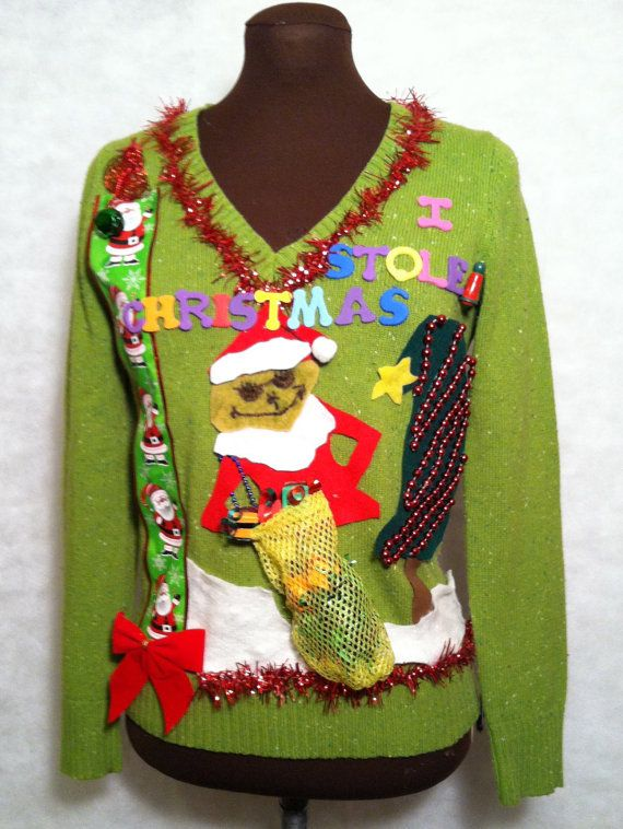 how the grinch stole christmas sweater christmas sweater size small grinch dont care who knows that he stole - How The Grinch Stole Christmas Sweater