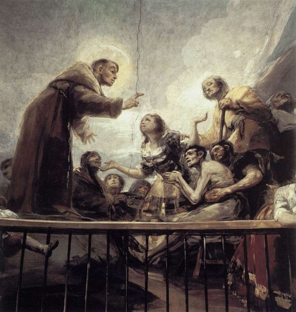 The miracle of st anthony by francisco de goya y lucientes 1798 francisco goya the miracle of st anthony detail san antonio de la florida madrid read more about the symbolism and interpretation of the miracle of st biocorpaavc
