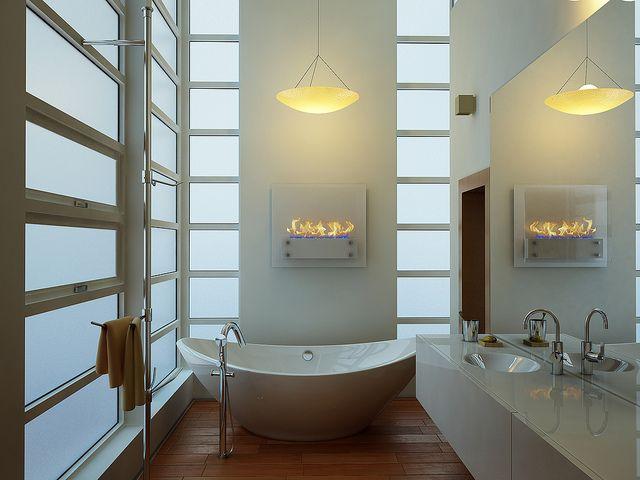 White board biocamini da arredamento pinterest bathroom home and boards - Stufette da bagno ...