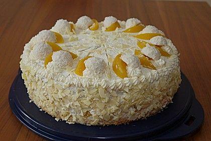 Pfirsich - Raffaello - Torte von -Christine--- | Chefkoch #octoberfestfood