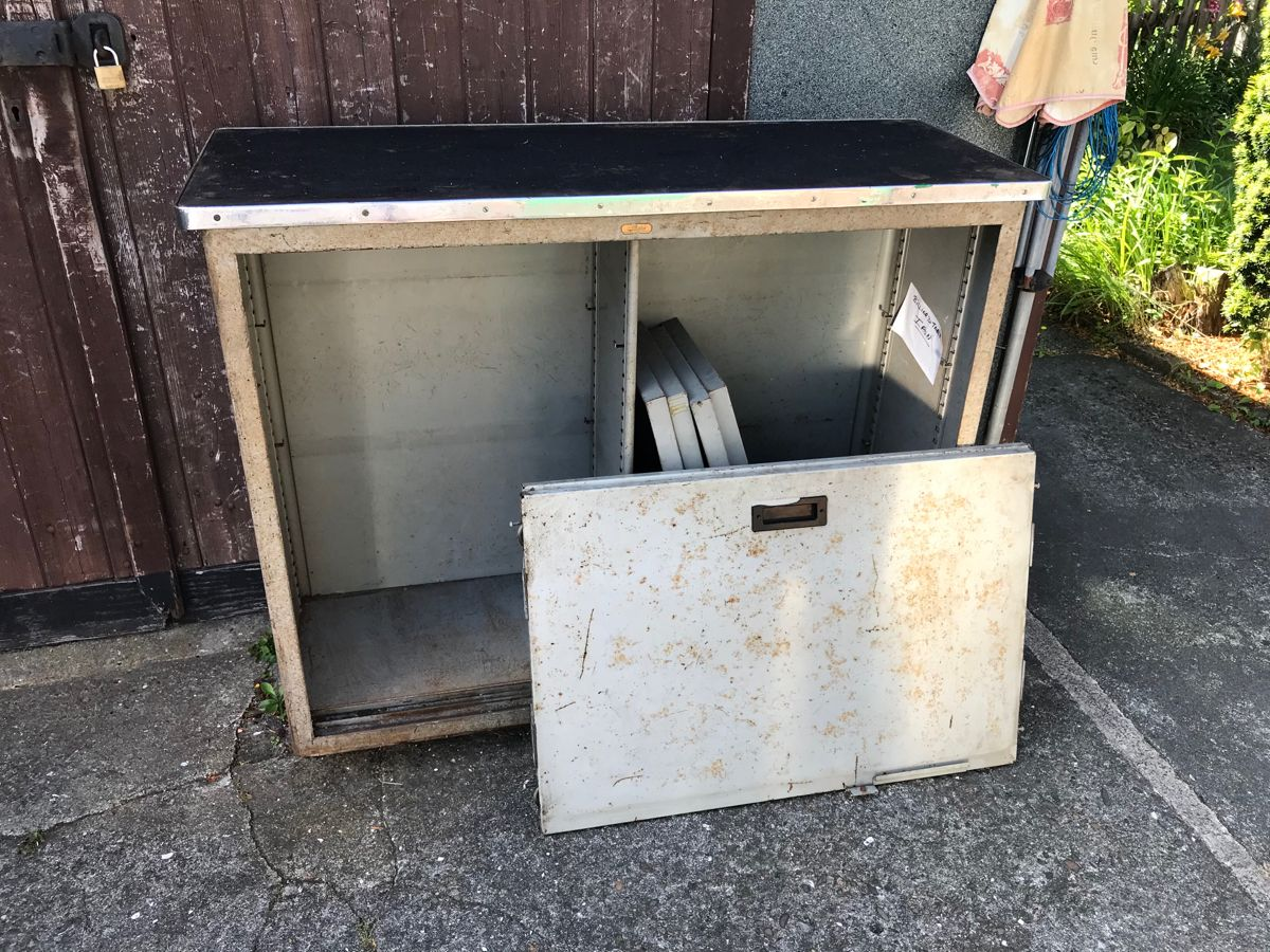 Restoring My Grandads 50 Plus Year Old Industrial Cabinet. #restoration #industrial #industrialfurniture #history #projects