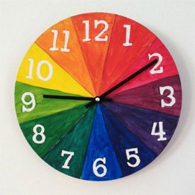 You Can Make Your Own Lovely Clock And Learn About The Color Wheel At The Same Time Color Wheel Projects Color Wheel Art Projects Color Wheel