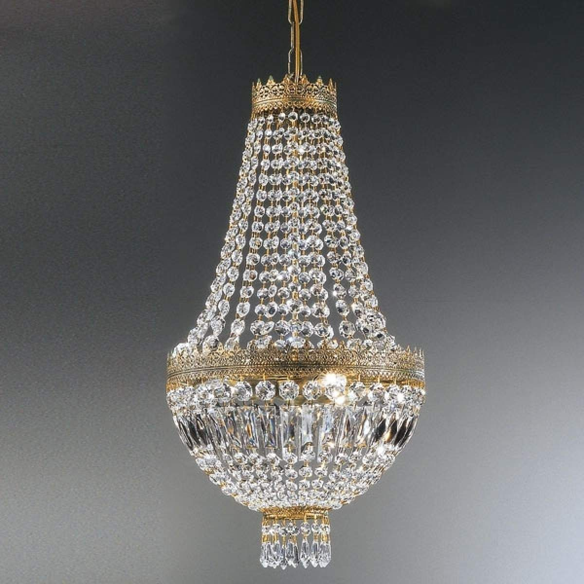 Kristall Hangeleuchte Cupola Hangeleuchte Holz Hangelampe Kupfer Und Kristall Lampe