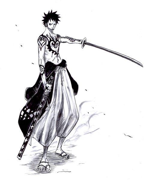 侍ローぽにおのイラスト Pixiv One Piece トラファルガー