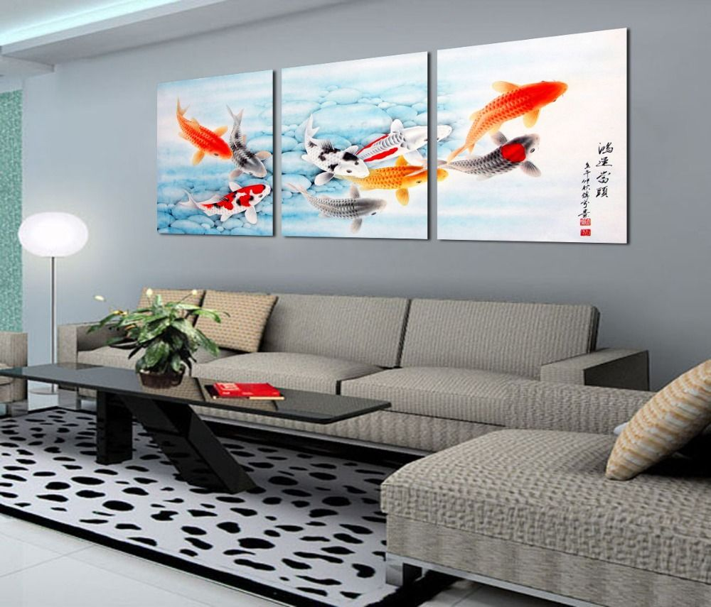 Free shipping 3 piece canvas wall art Ladies abstract art Office art ...