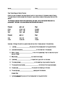 Free Verb Tense Worksheet Adding Ed And D With Images Free