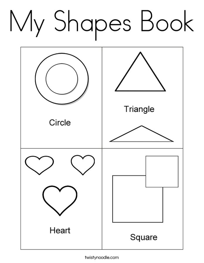 printable educational basic Shapes coloring pages for kids | Fun ...