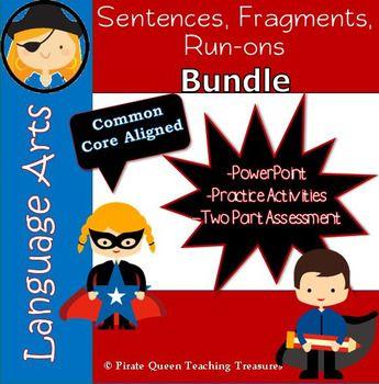 Fragments, Run-ons, & Sentences Bundle/ CCSS Aligned 4th ...