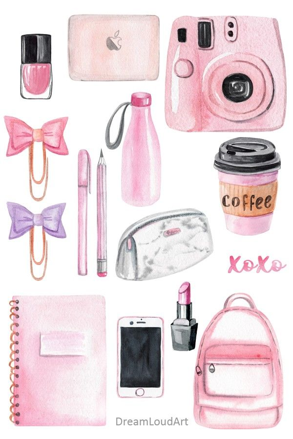 Photo of watercolor back to school clipart