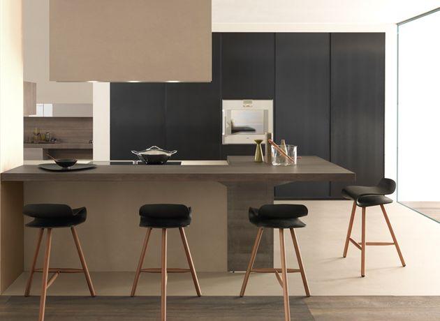 id e cuisine beige fonc et gris cuisine pinterest cuisine beige cuisines deco et id e. Black Bedroom Furniture Sets. Home Design Ideas