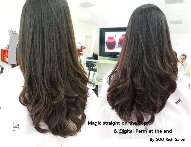 Magic straight perm on top digital perm on the ends as much as i magic straight perm on top digital perm on the ends as much as i love this look its seems like it would be sooo damaging solutioingenieria Images