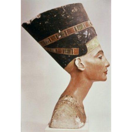 Bust of Queen Nefertiti (Profile) ca1352-36 BCE Limestone Staatliche Museen Preussischer Kulturbesitz (Agyptisches Museum und Papyrussammlung) Berlin Germany Canvas Art - (24 x 36)
