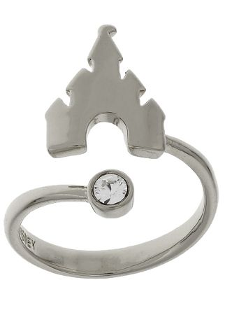 Disney Ring Castle Adjustable Silver Tone Disney Rings