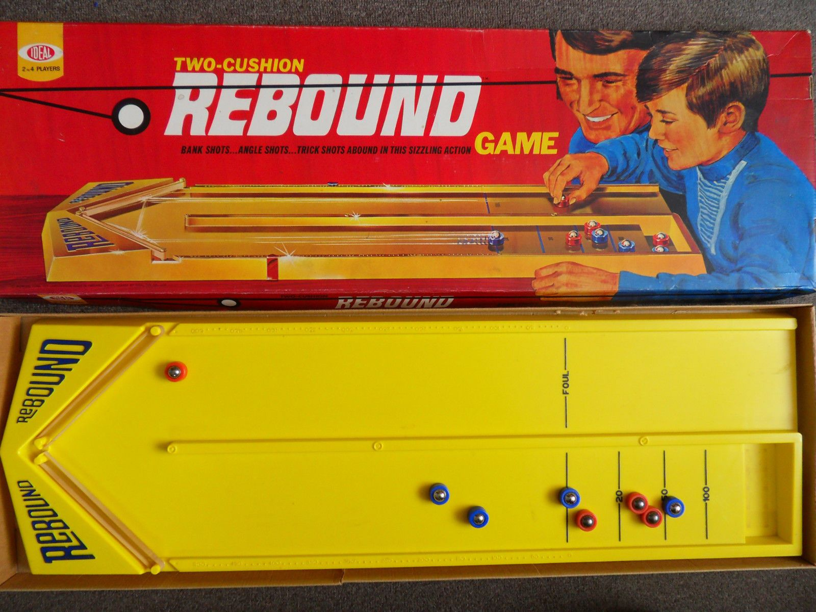 Vintage Toys And Games : Classic vintage board game rebound issue by ideal