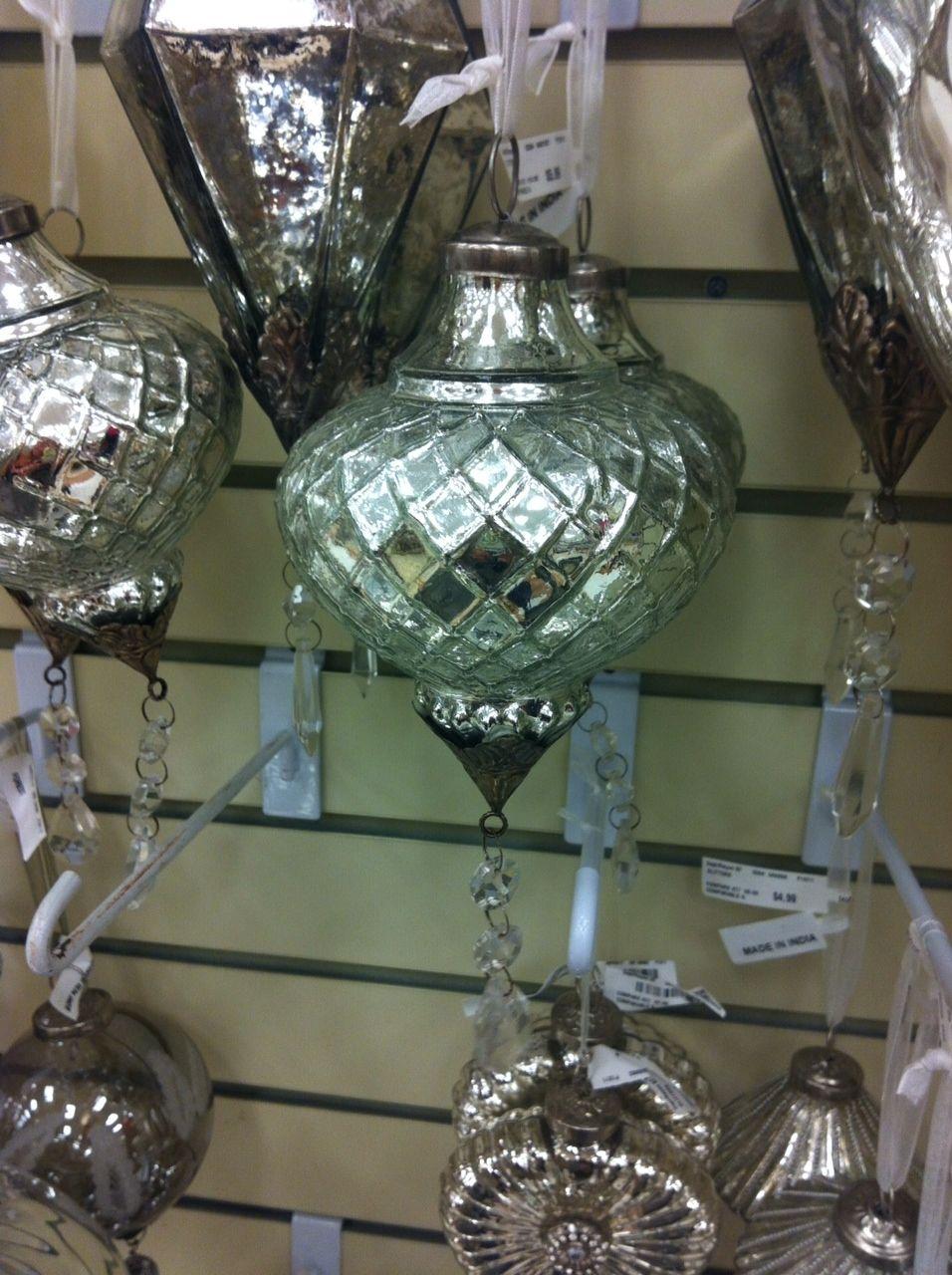 mercury glass and crystal | Mercury Glass | Pinterest | Christmas ...