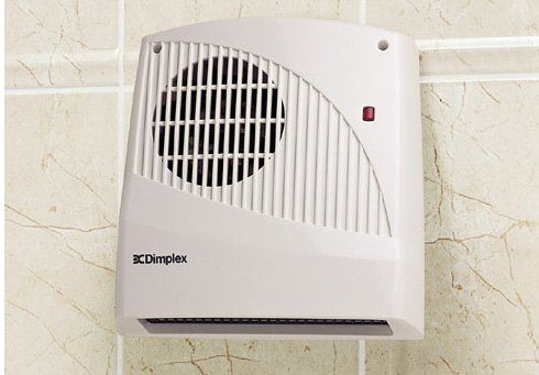 Dimplex Small Bathroom Wall Mounted Fan Heater. Runs on 2