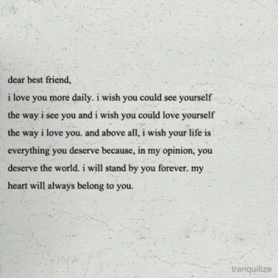 Letter Bestfriend Quote Jess Pearl Liu Sutton Dunham Elaine