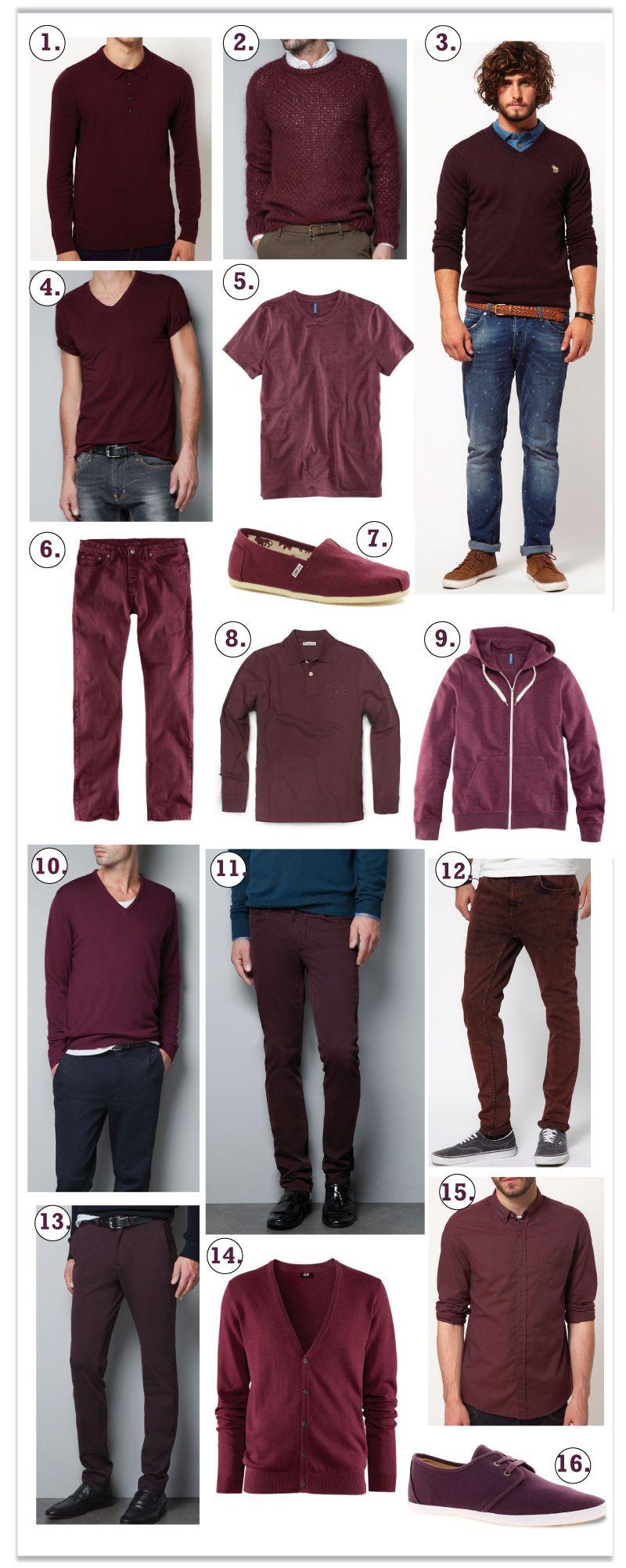 48cfb41ad4 burgundy-burdeos-ropa burdeos Pantalon Rojo Hombre