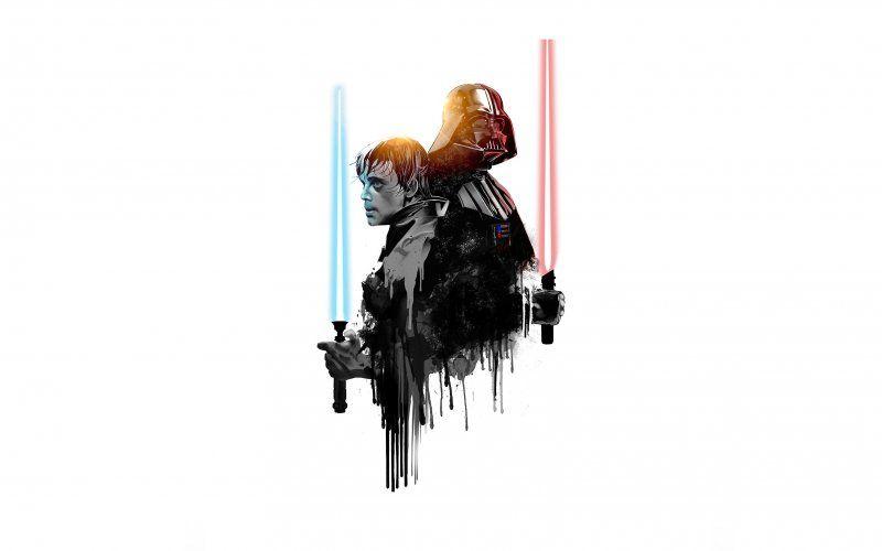 Darth Vader Luke Skywalker Star Wars Minimal Star Wars Wallpaper Darth Vader Clip Art Darth Vader Wallpaper