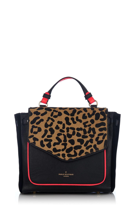 4486164f8e1 Pauls Boutique - Pixie Handheld Bag - Black Leopard Print   Bags