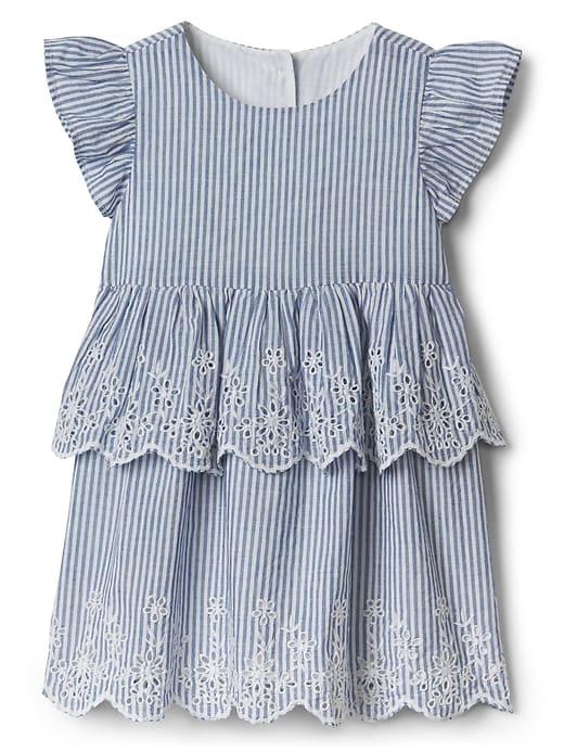 3df0729d68da Gap Baby Stripe Flutter Dress Blue Stripe | Products | Baby girl ...
