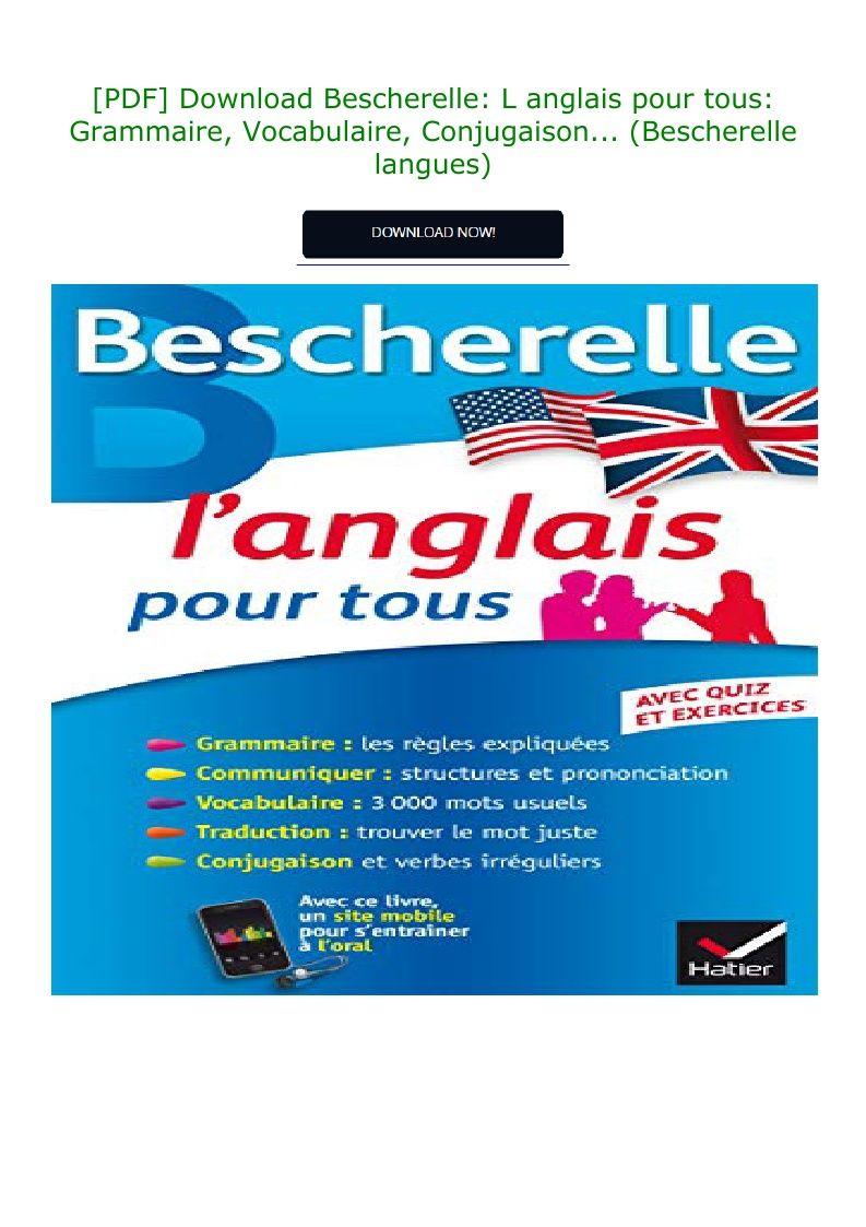 Pdf Download Bescherelle L Anglais Pour Tous Grammaire Vocabulaire
