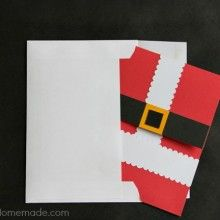 Handmade Christmas Card with Envelope