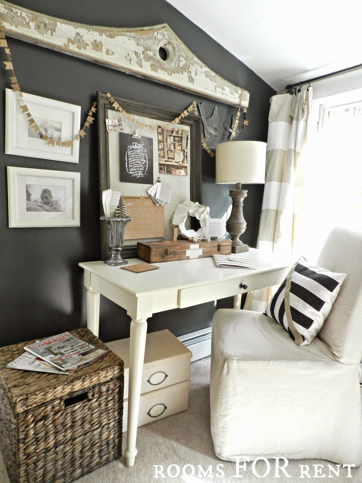 home office pottery barn. Dark Accent Office Wall Home Pottery Barn ,