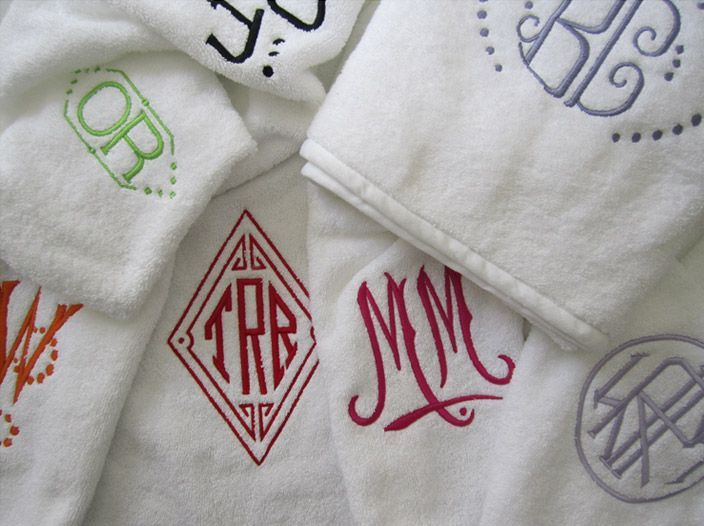 Make Towels With Your Personalized Logo Monogram Towels